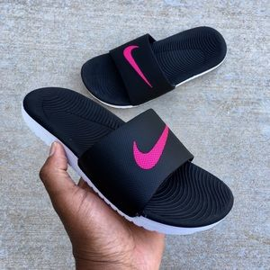 1d80c85d7aec Nike Shoes - WMNS NIKE KAWA SANDALS SWOOSH WOMENS BLACK PINK